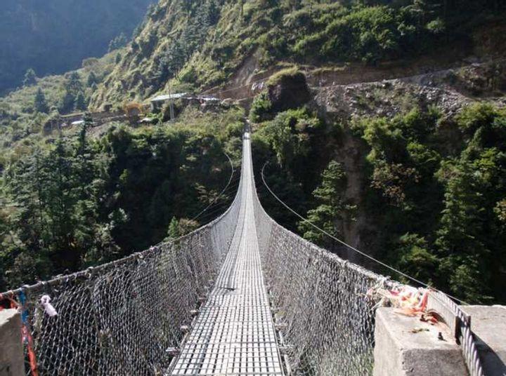 Hanging Bridge Of Ghasa (Nepal)